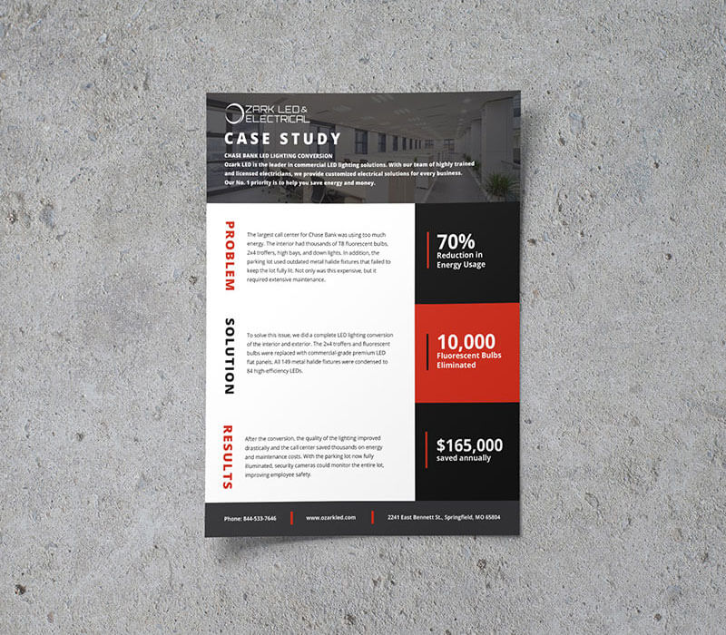 Marketing Collateral Ozark LED & Electrical B2B Case Study
