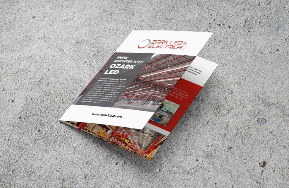 Marketing Collateral Ozark LED & Electrical B2B Brochure