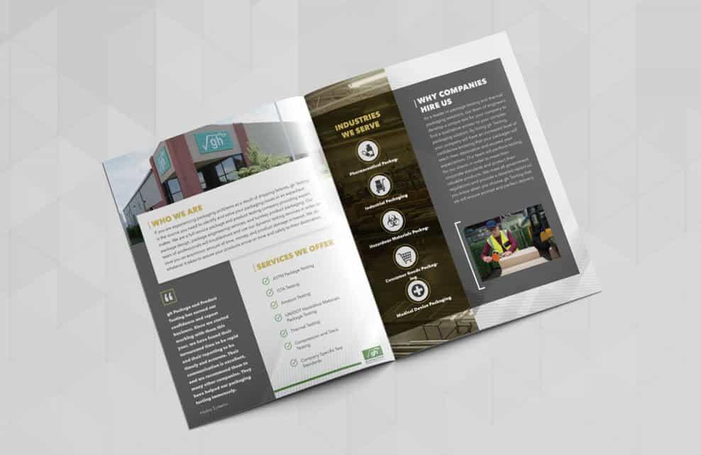Marketing Collateral GH Testing B2B Brochure