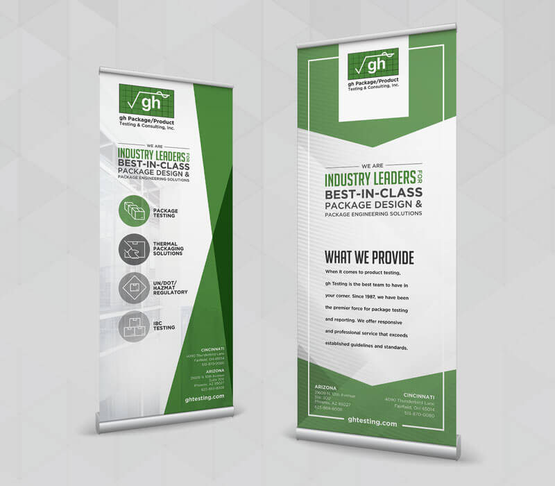 Marketing Collateral GH Testing B2B Tradeshow Pop Up Banners
