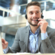 B2B sales representative on a phonecall
